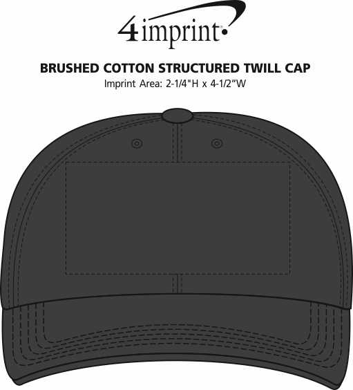Imprint Area of Brushed Cotton Structured Twill Cap