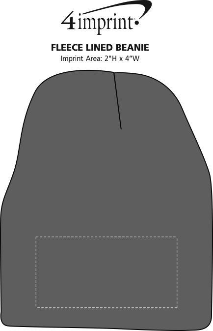 Imprint Area of Fleece Lined Beanie