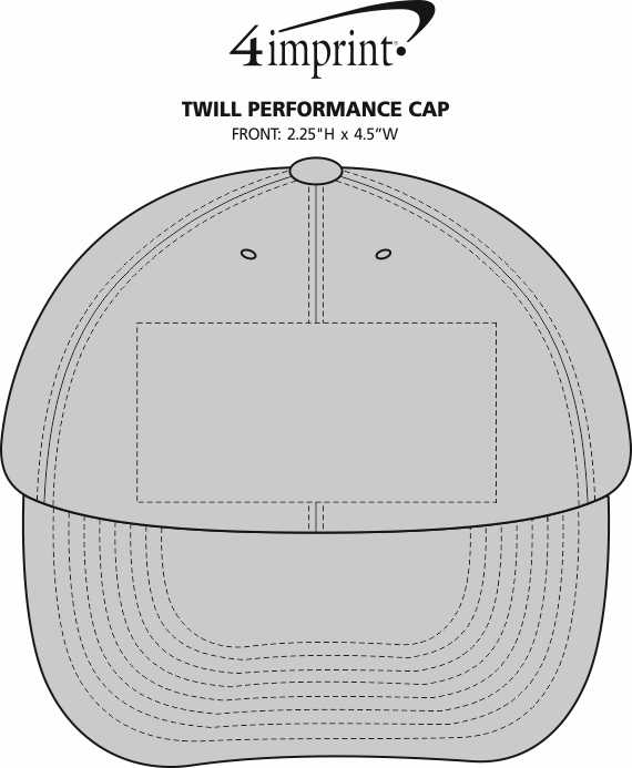 Imprint Area of Twill Performance Cap