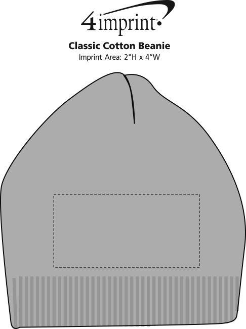 Imprint Area of Classic Cotton Beanie