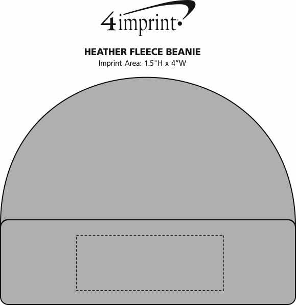 Imprint Area of Heather Fleece Beanie