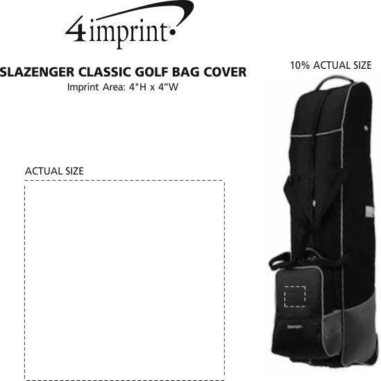 Imprint Area of Slazenger Classic Golf Bag Cover