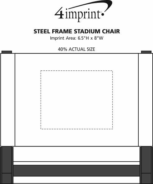 Imprint Area of Steel Frame Stadium Chair