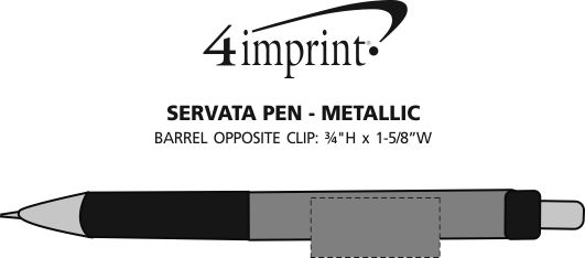 Imprint Area of Servata Pen - Metallic