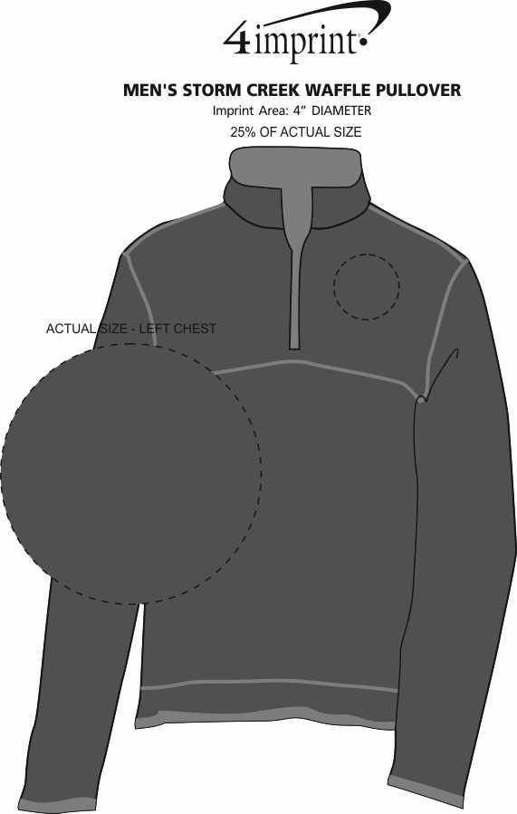 Imprint Area of Storm Creek Jarret Waffle Knit 1/4-Zip Fleece - Men's