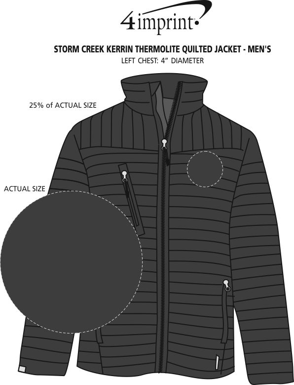 Imprint Area of Storm Creek Thermolite Quilted Jacket - Men's