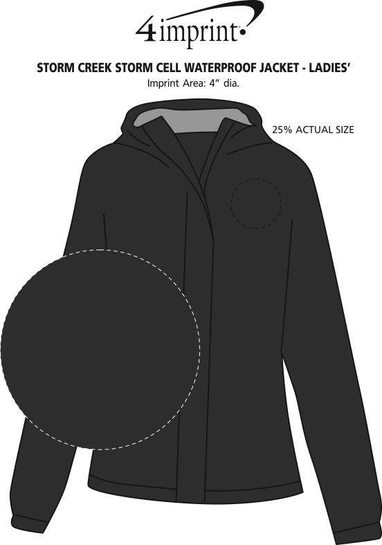 Imprint Area of Storm Creek Storm Cell Waterproof Jacket - Ladies'