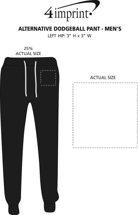 Imprint Area of Alternative Fleece Dodgeball Pants - Men's