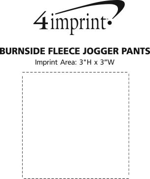 Imprint Area of Burnside Fleece Jogger Pants