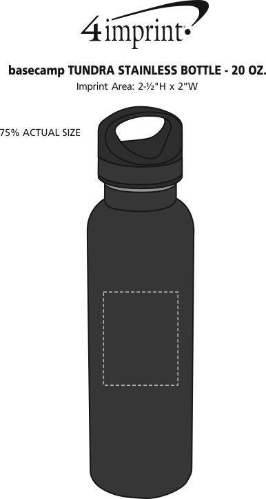Imprint Area of Basecamp Tundra Vacuum Bottle - 20 oz.