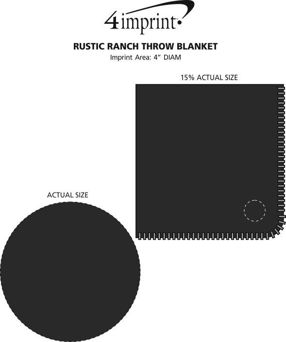 Imprint Area of Rustic Ranch Throw Blanket