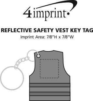 Imprint Area of Reflective Safety Vest Keychain
