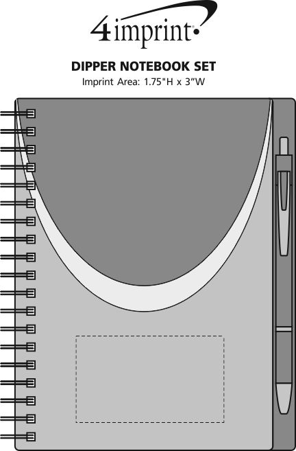 Imprint Area of Dipper Notebook Set