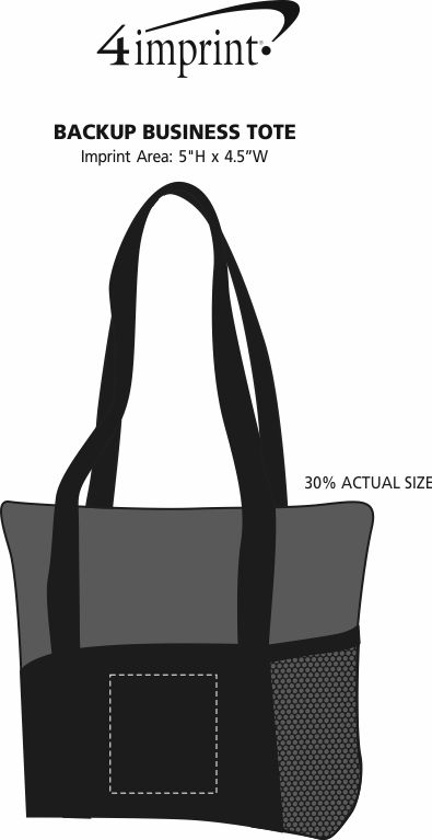 Imprint Area of Backup Business Tote