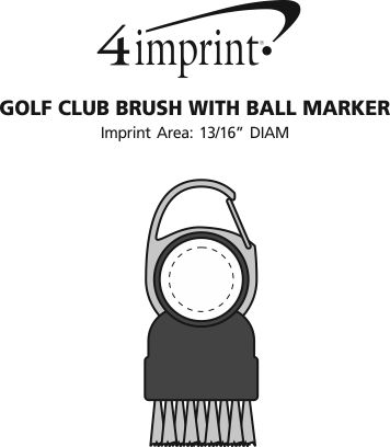 Imprint Area of Golf Club Brush with Ball Marker