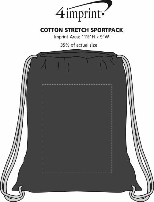 Imprint Area of Cotton Stretch Sportpack