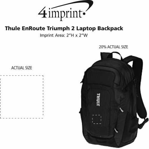Imprint Area of Thule EnRoute Triumph 2 Laptop Backpack