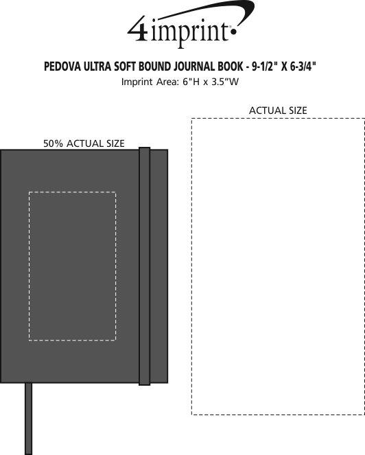 "Imprint Area of Pedova Ultra Soft Bound Journal Book - 9-1/2"" x 6-3/4"""