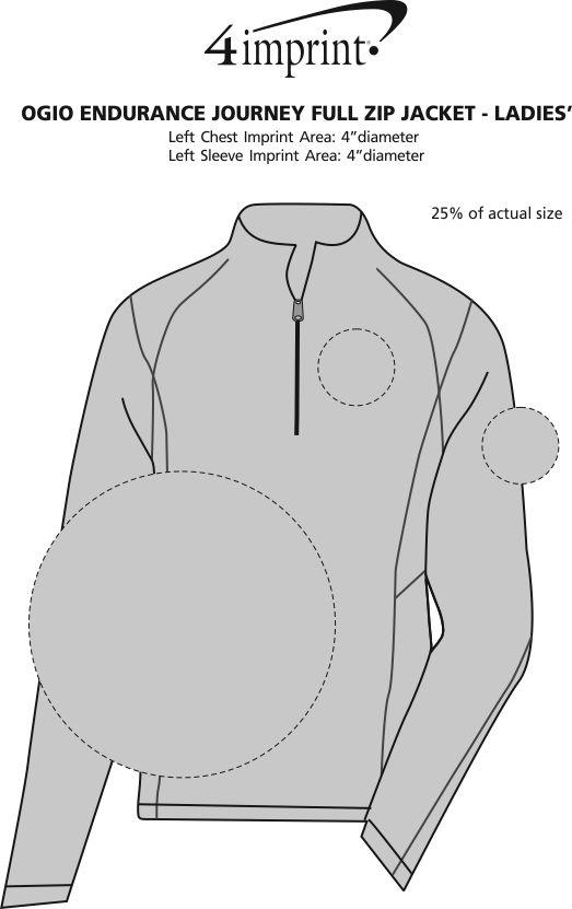 Imprint Area of OGIO Endurance Journey 1/4-Zip Pullover - Men's