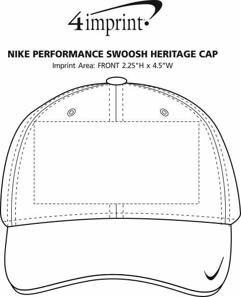 Imprint Area of Nike Performance Swoosh Heritage Cap