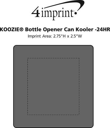 Imprint Area of Koozie® Bottle Opener Beverage Kooler - 24 hr