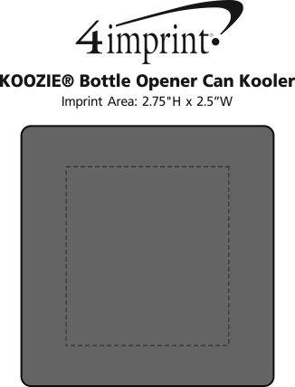 Imprint Area of Koozie® Bottle Opener Beverage Kooler