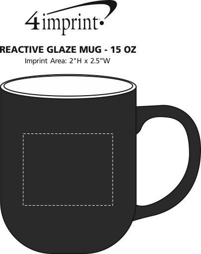 Imprint Area of Reactive Glaze Mug - 15 oz.