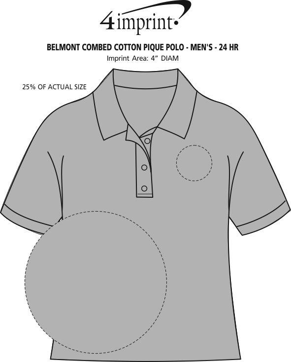 Imprint Area of Belmont Combed Cotton Pique Polo - Men's - 24 hr