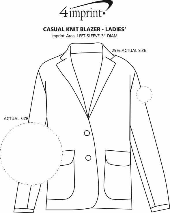 Imprint Area of Casual Knit Blazer - Ladies'