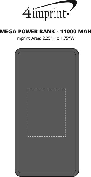 Imprint Area of Mega Power Bank