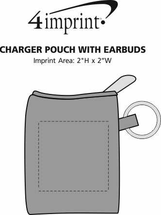 Imprint Area of Charger Pouch with Ear Buds