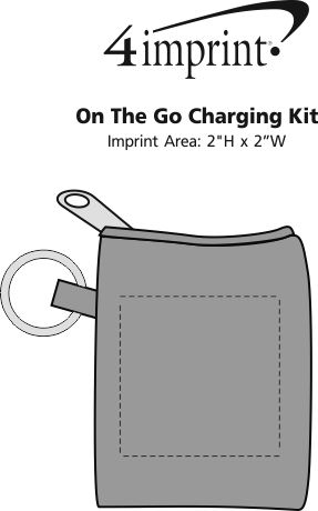 Imprint Area of On The Go Charging Kit