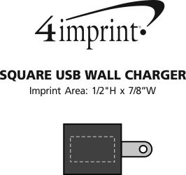 Imprint Area of Square USB Wall Charger