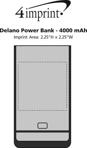 Imprint Area of Delano Power Bank