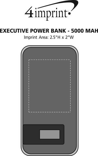 Imprint Area of Executive Power Bank