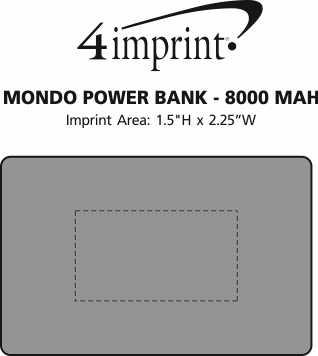 Imprint Area of Mondo Power Bank
