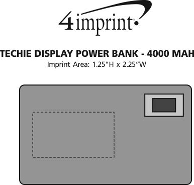 Imprint Area of Techie Display Power Bank
