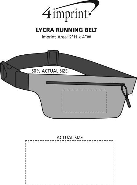 Imprint Area of Lycra Running Belt