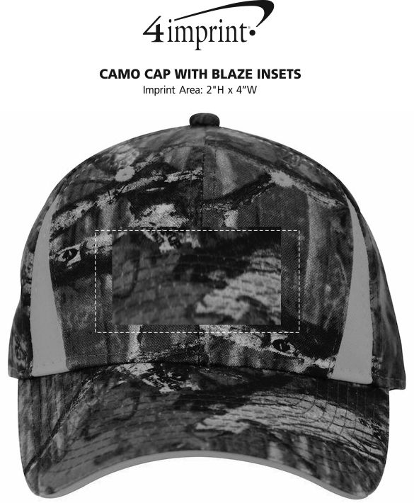 Imprint Area of Camo Cap with Blaze Inserts