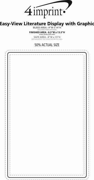 Imprint Area of Easy-View Literature Display with Graphic