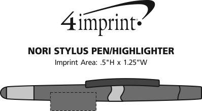 Imprint Area of Nori Stylus Pen/Highlighter