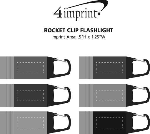 Imprint Area of Rocket Clip Flashlight
