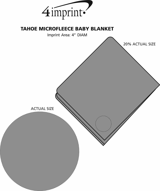 Imprint Area of Tahoe Microfleece Baby Blanket