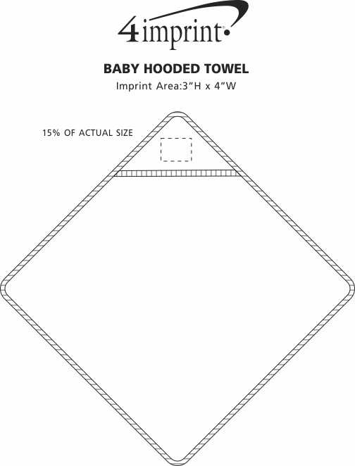 Imprint Area of Baby Hooded Towel