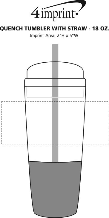 Imprint Area of Quench Tumbler with Straw - 18 oz.
