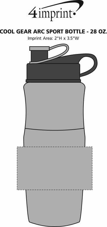Imprint Area of Cool Gear Arc Sport Bottle - 28 oz.