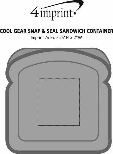 Imprint Area of Cool Gear Snap & Seal Sandwich Container