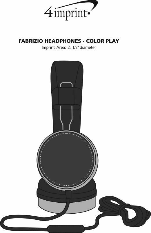 Imprint Area of Fabrizio Headphones - Color Play