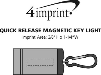 Imprint Area of Quick Release Magnetic Key Light