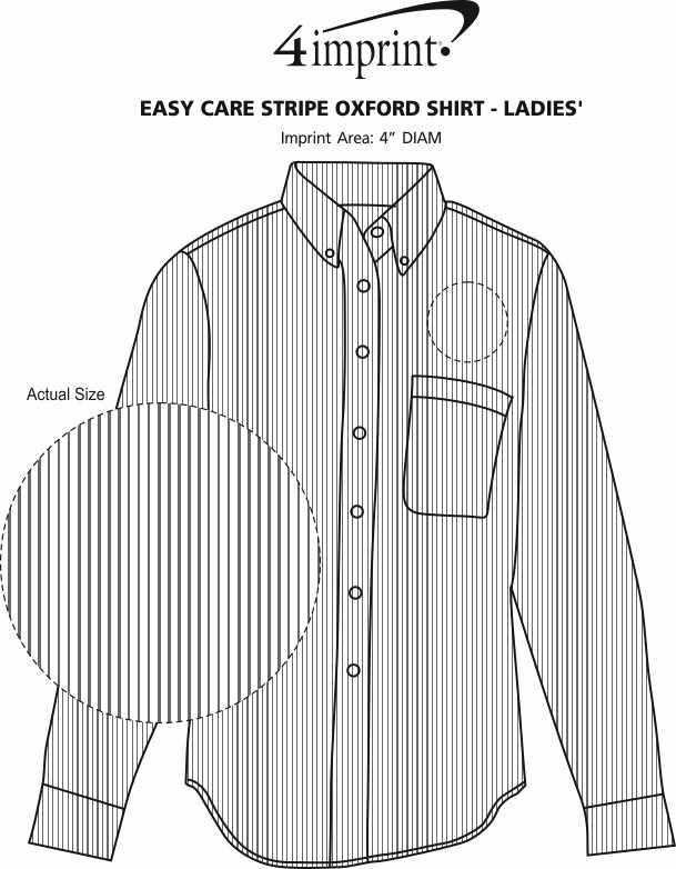 Imprint Area of Easy Care Stripe Oxford Shirt - Ladies'